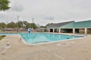 Swimming pool at Village West in West Houston