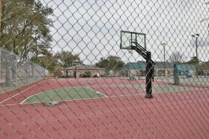 Basketball court at Village West in West Houston
