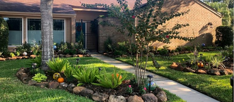 Yard of the Month winner at 11534 Piping Rock Drive