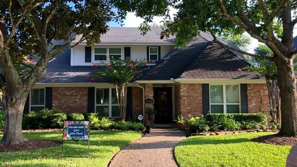 Village West July Yard of the Month winner is 11410 Chevy Chase.